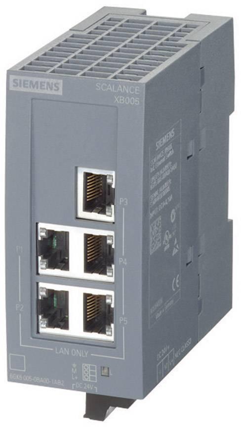 Průmyslový ethernetový switch Siemens, SCALANCE XB005, 100 Mbit/s