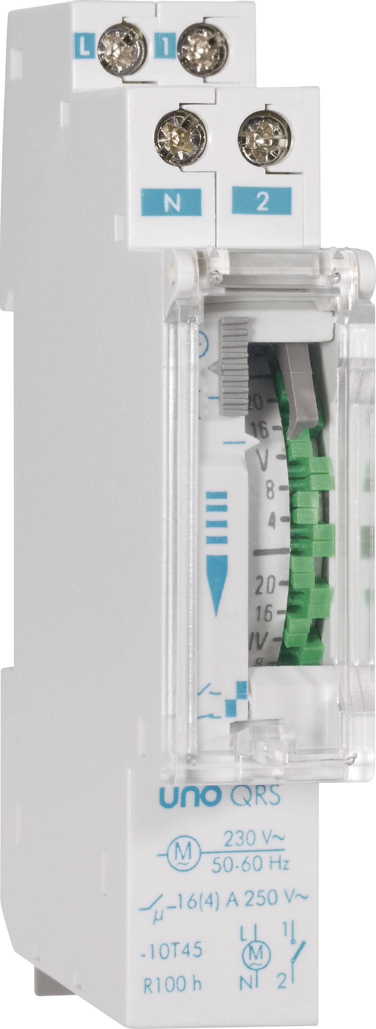 Časovač na DIN lištu Suevia UNO QRS, 230 V/AC, 16 A/250 V
