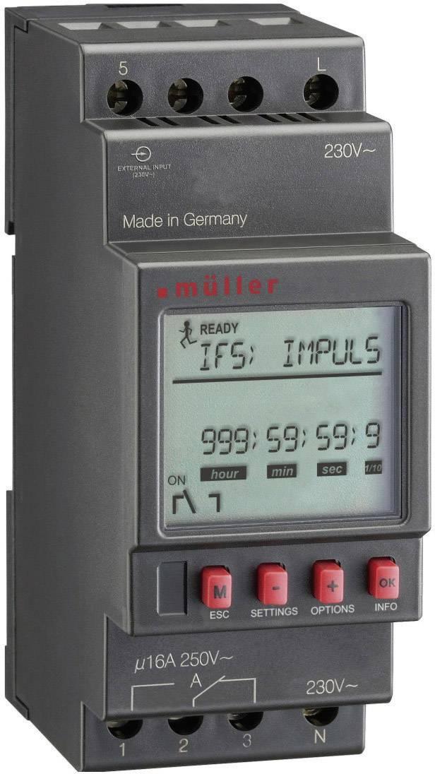 Multifunkční digitální časové relé Müller MR 28.10 pro, 230 V/AC, 24 V DC/AC, 16 A/250 V