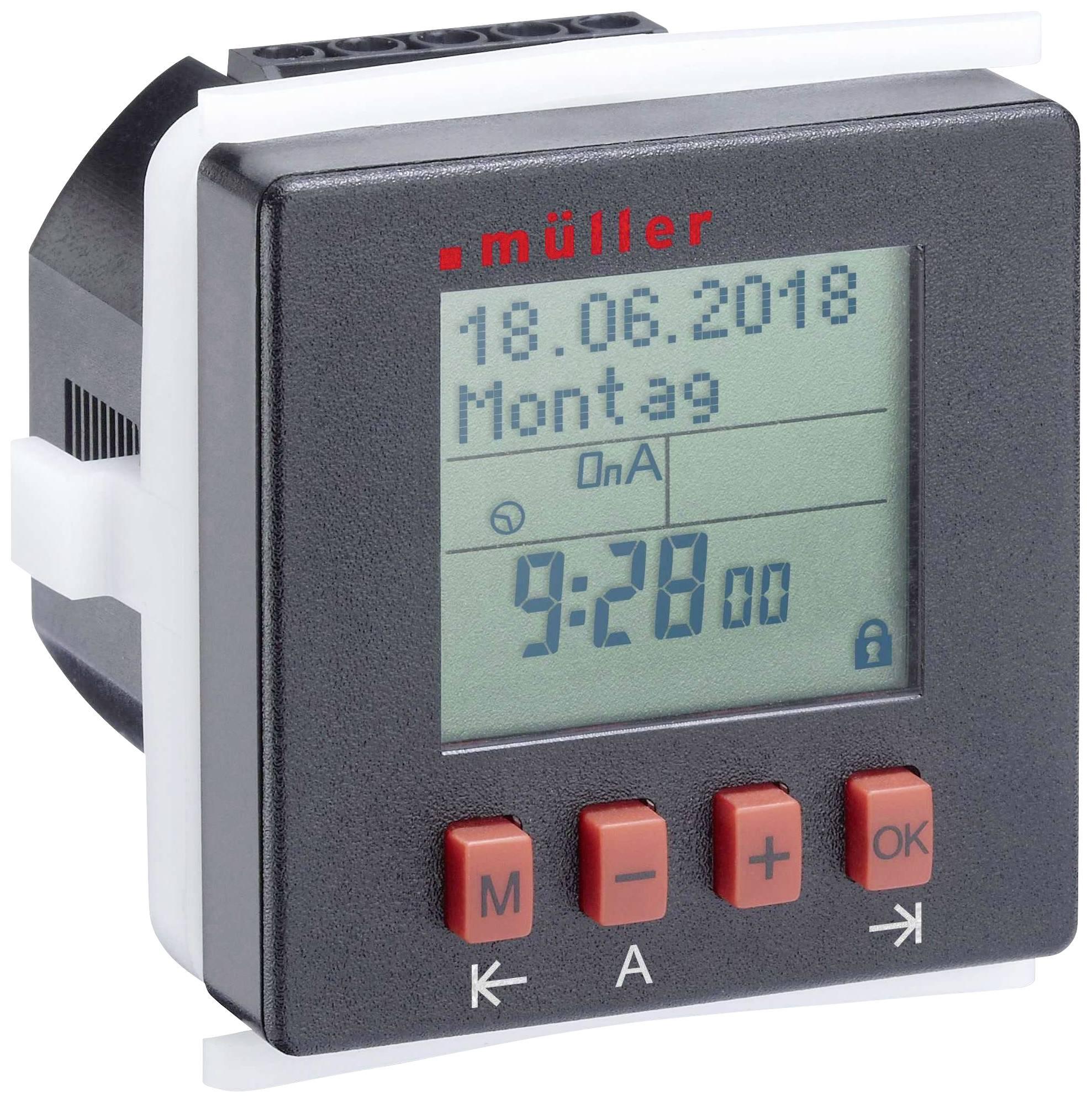 Časovač na DIN lištu Müller SC2410pro, 230 V/AC, 8 A/250 V