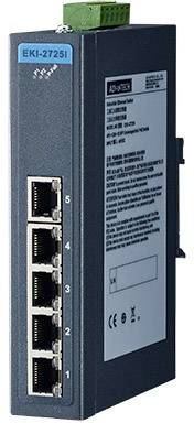 Ethernetový switch Gb Advantech EKI-2725-BE, 5port., 12 - 48 V/DC