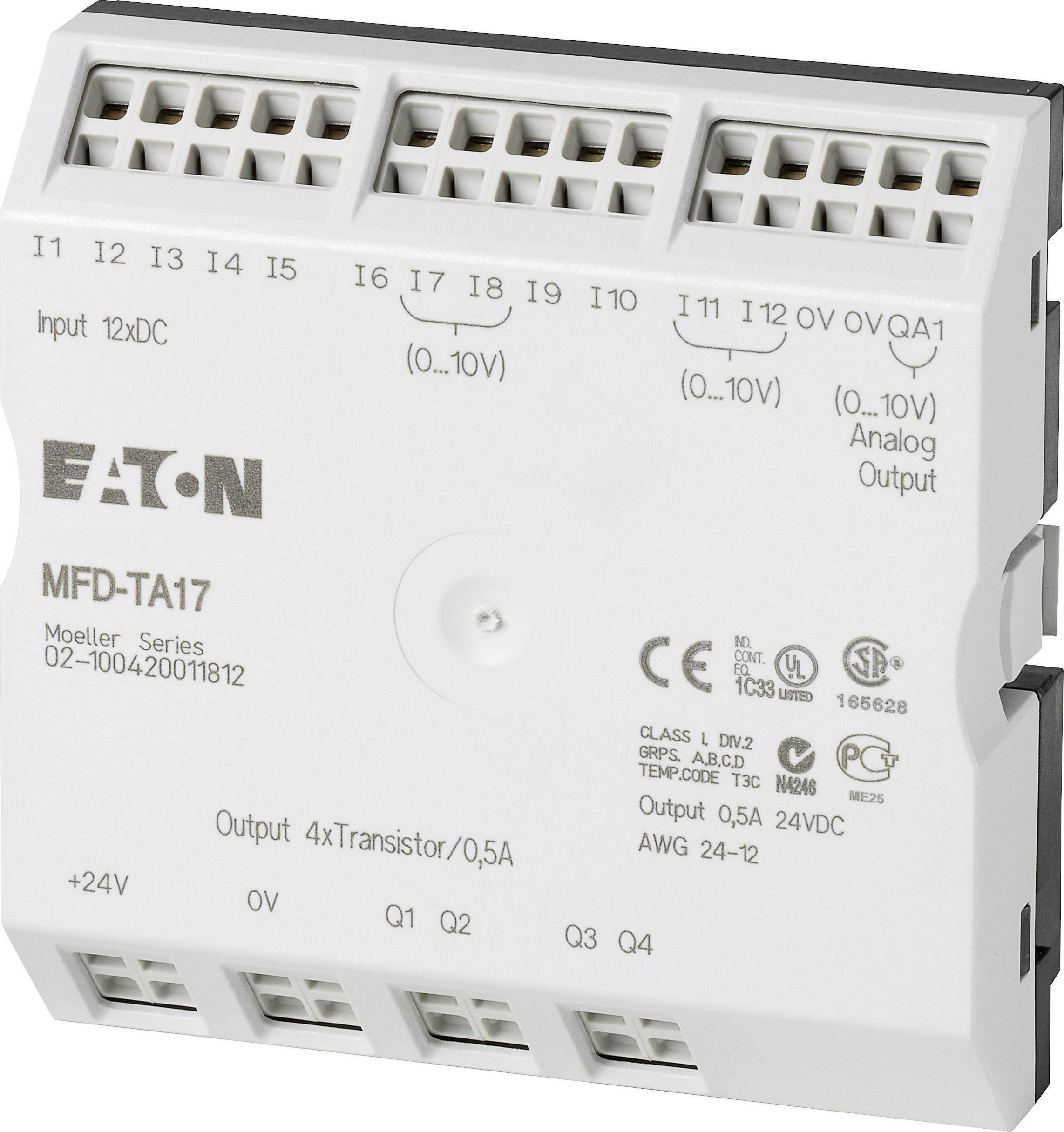 PLC rozširujúci modul Eaton MFD-TA17 265256, 24 V/DC