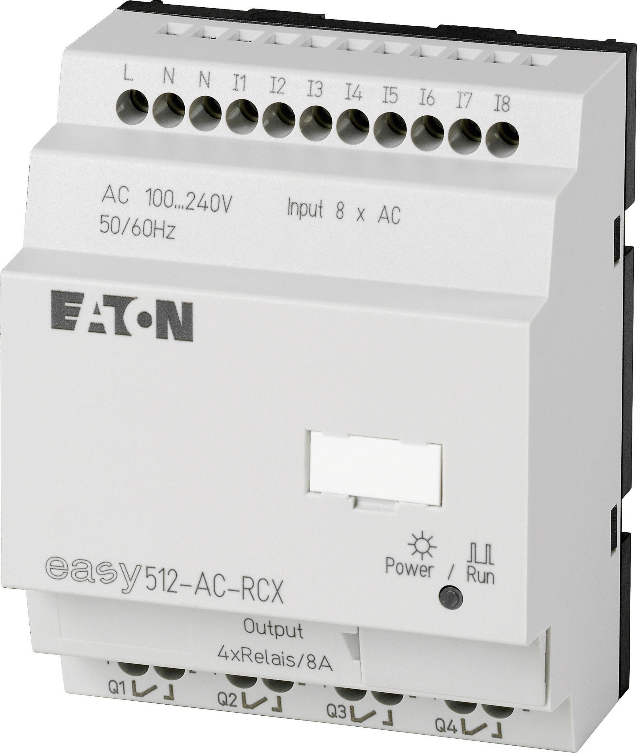 Řídicí reléový PLC modul Eaton easy 512-AC-RCX (274105), IP20, 4x relé, 115 - 230 V/AC