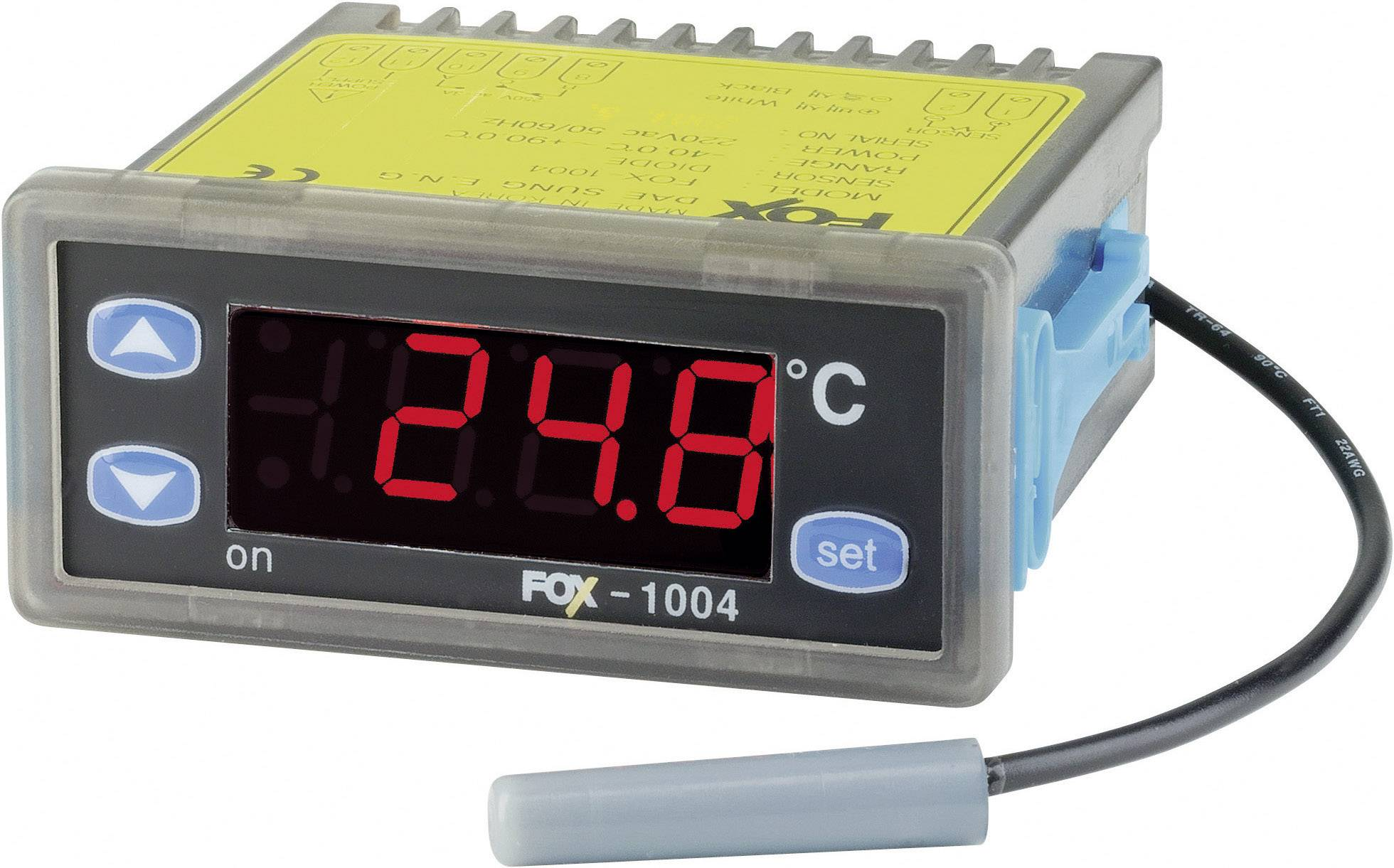 Panelový termostat FOX 1004, 2A, 1 relé
