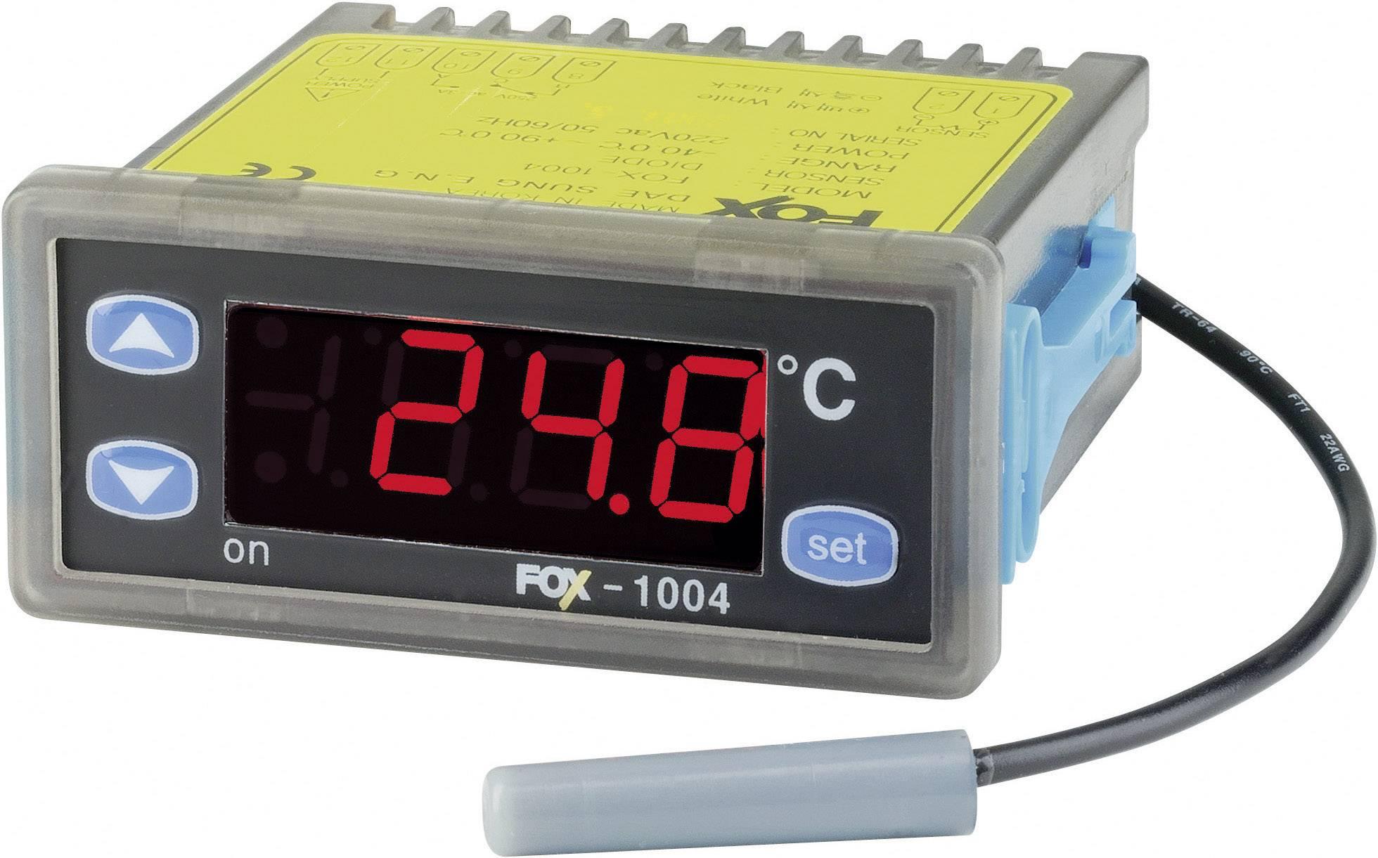 Panelový termostat FOX D1004, 2A, 2 relé