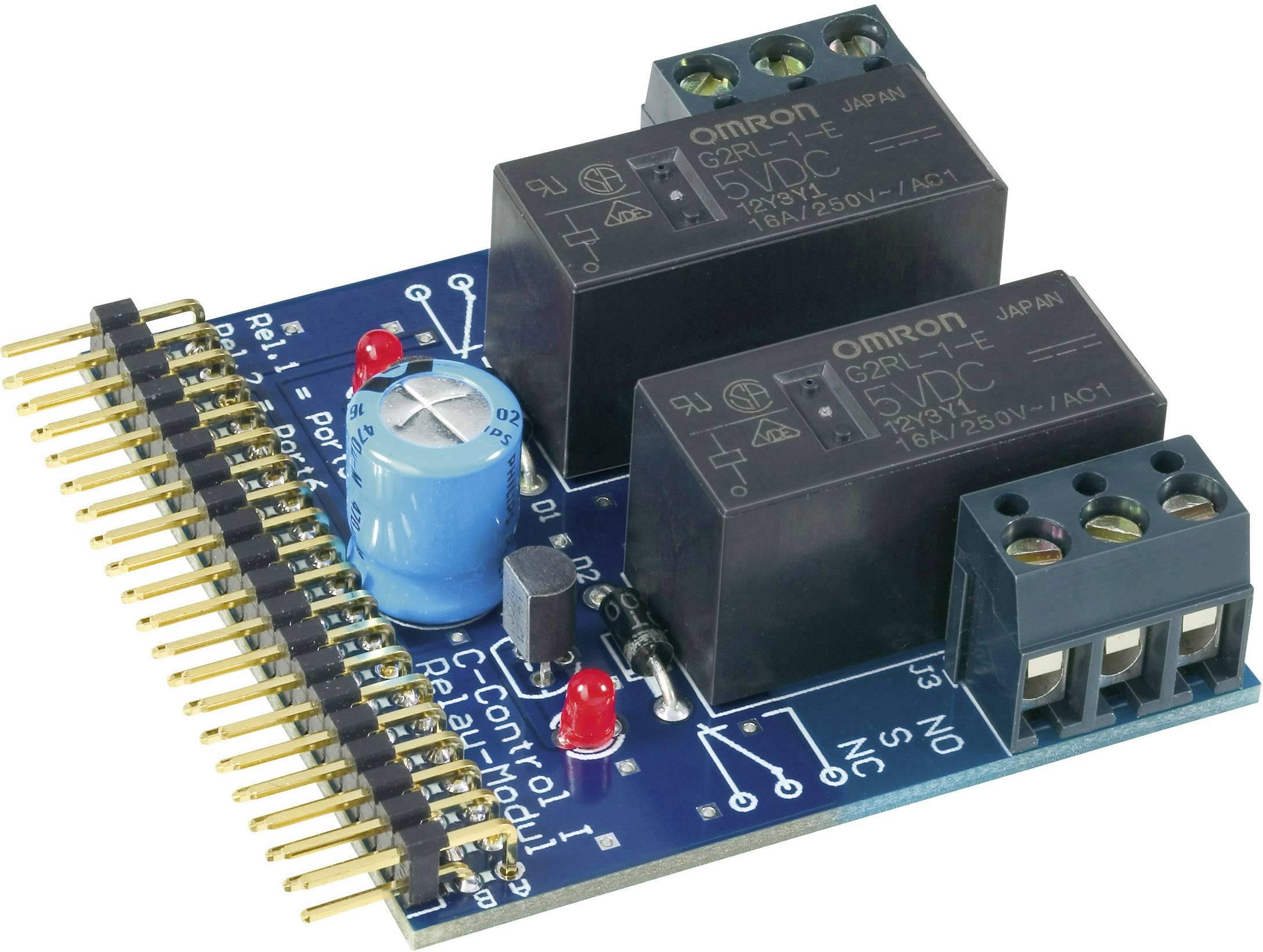 Reléový modul C-Control, 2x 16A PRO TP 177A