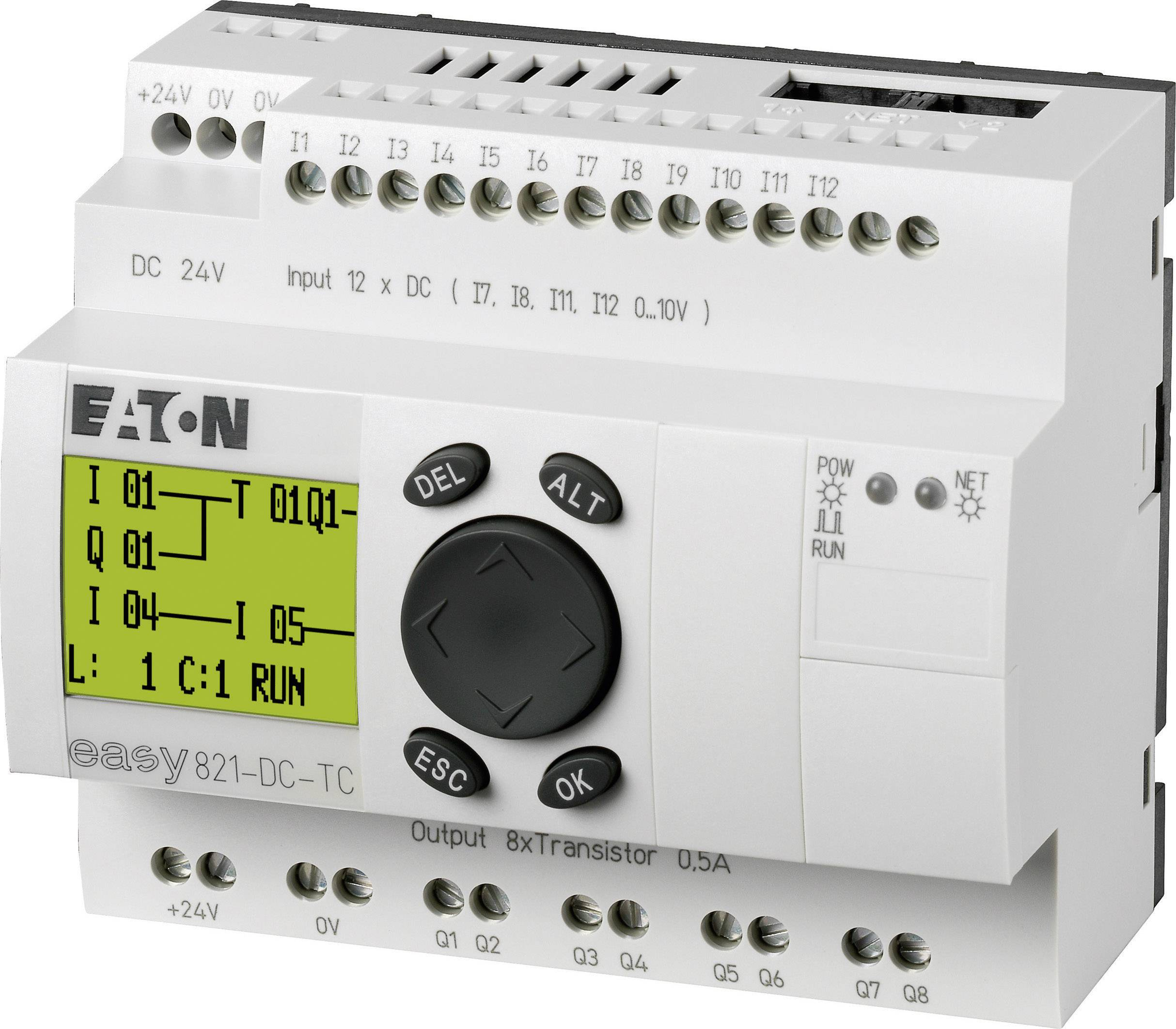 Řídicí reléový modul Eaton easy 821-DC-TC (256273), IP20, 12, 8x tranzistor