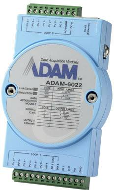 Ethernet dual-loop PID regulátor Advantech ADAM-6022, 12 V/DC, 24 V/DC