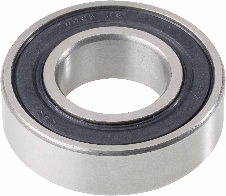 UBC Bearing 6306 2RS, Ø otvoru 30 mm, vonkajší Ø 72 mm, počet otáčok (max.) 6300 rpm