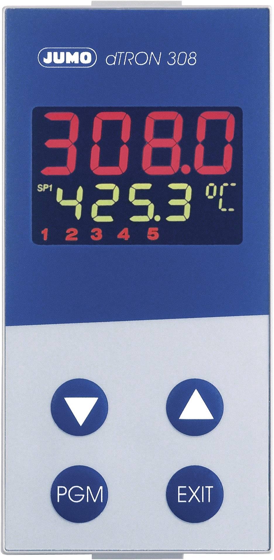 Panelový termostat JUMO dTRON 308, 110 - 240 V/AC, 48 x 96 mm