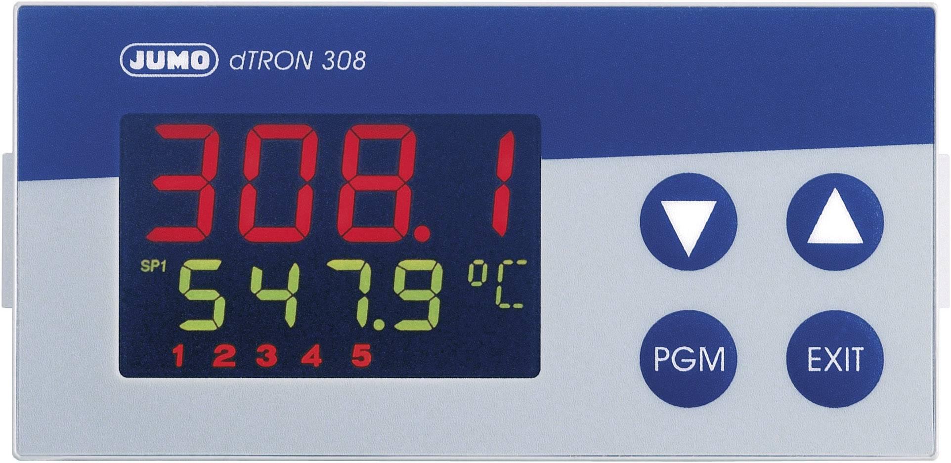 Kompaktný trojstupňový modulačný termostat Jumo DTRON308
