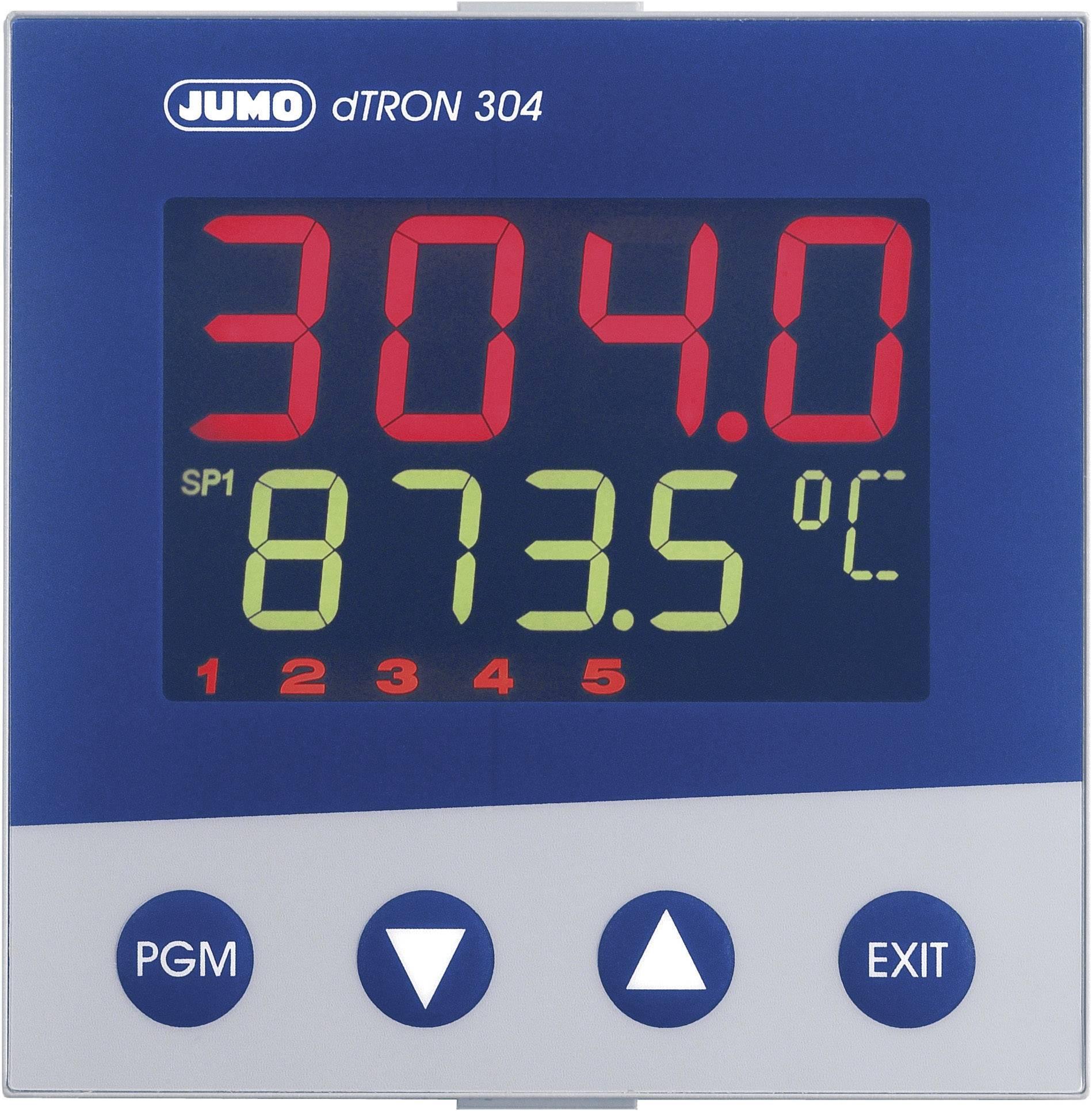 Panelový termostat JUMO dTRON 304, 110 - 240 VAC, 92 x 92 mm