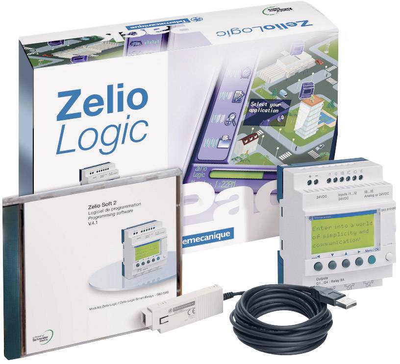 Sada PLC kontrolérů Schneider Electric Zelio Logic SR2 PackFU, 115 - 230 V/AC