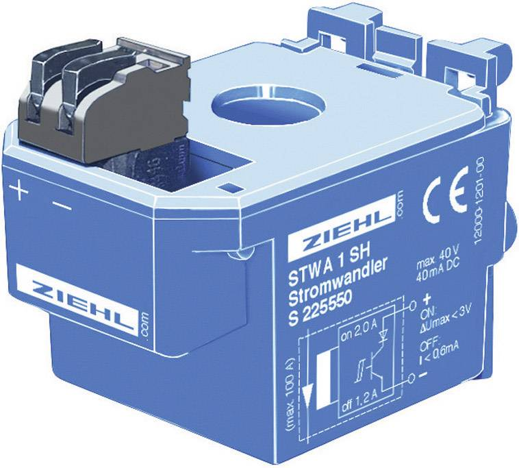 Ziehl STWA 1 H 100 A (max.) Vstupy měření 2 A/AC Výstupy LED