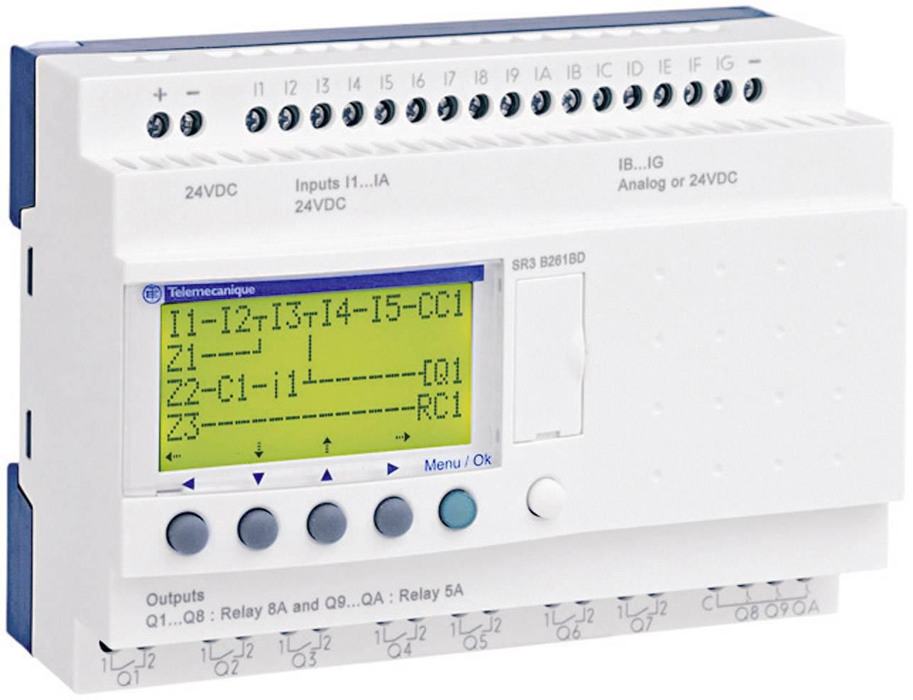 Řídicí PLC modul Schneider Electric Zelio Logic SR3 B261BD, 24 V/DC