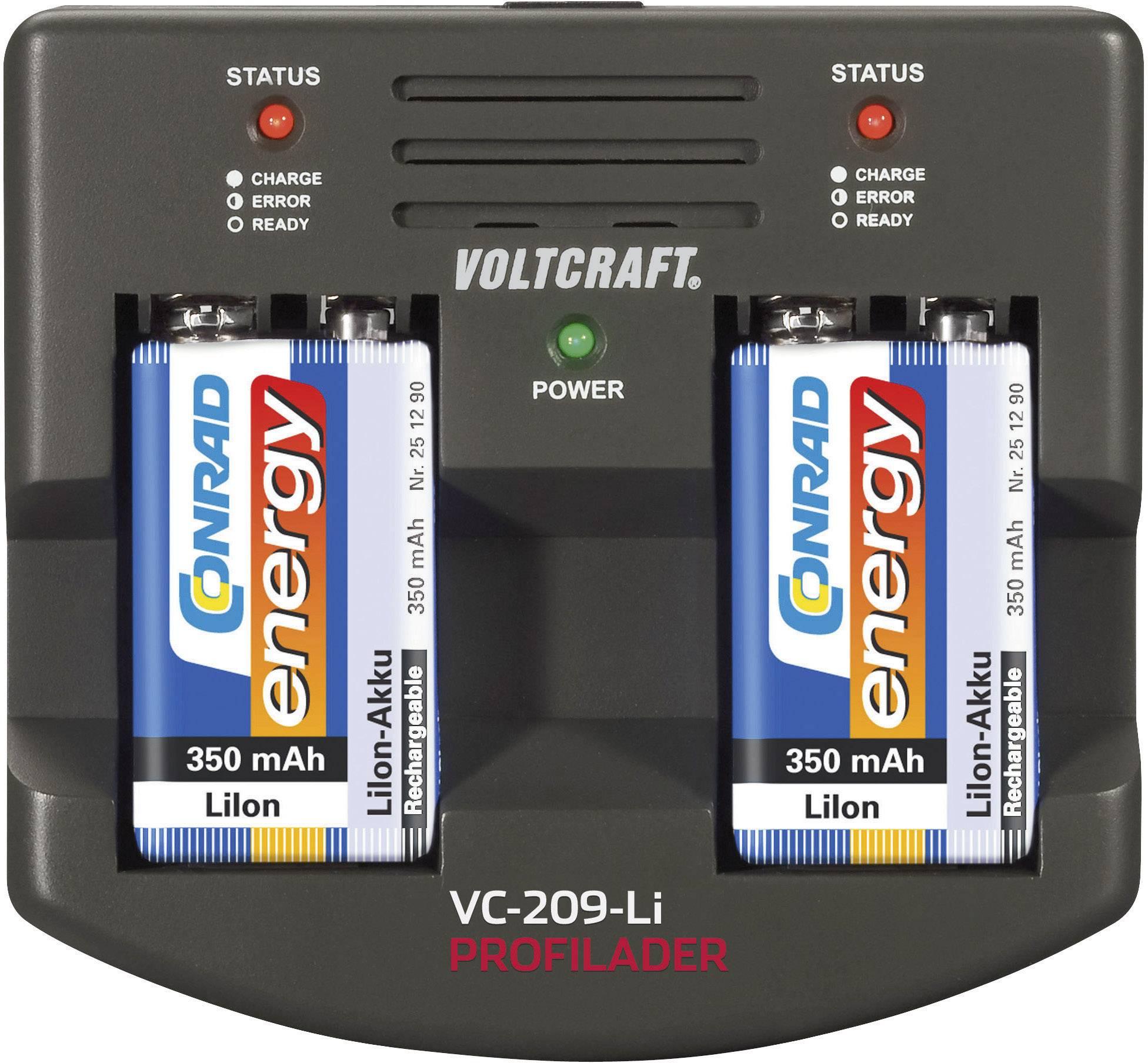 Profesionální nabíječka 9V Li-Ion akumulátorů Voltcraft VC-209-Li