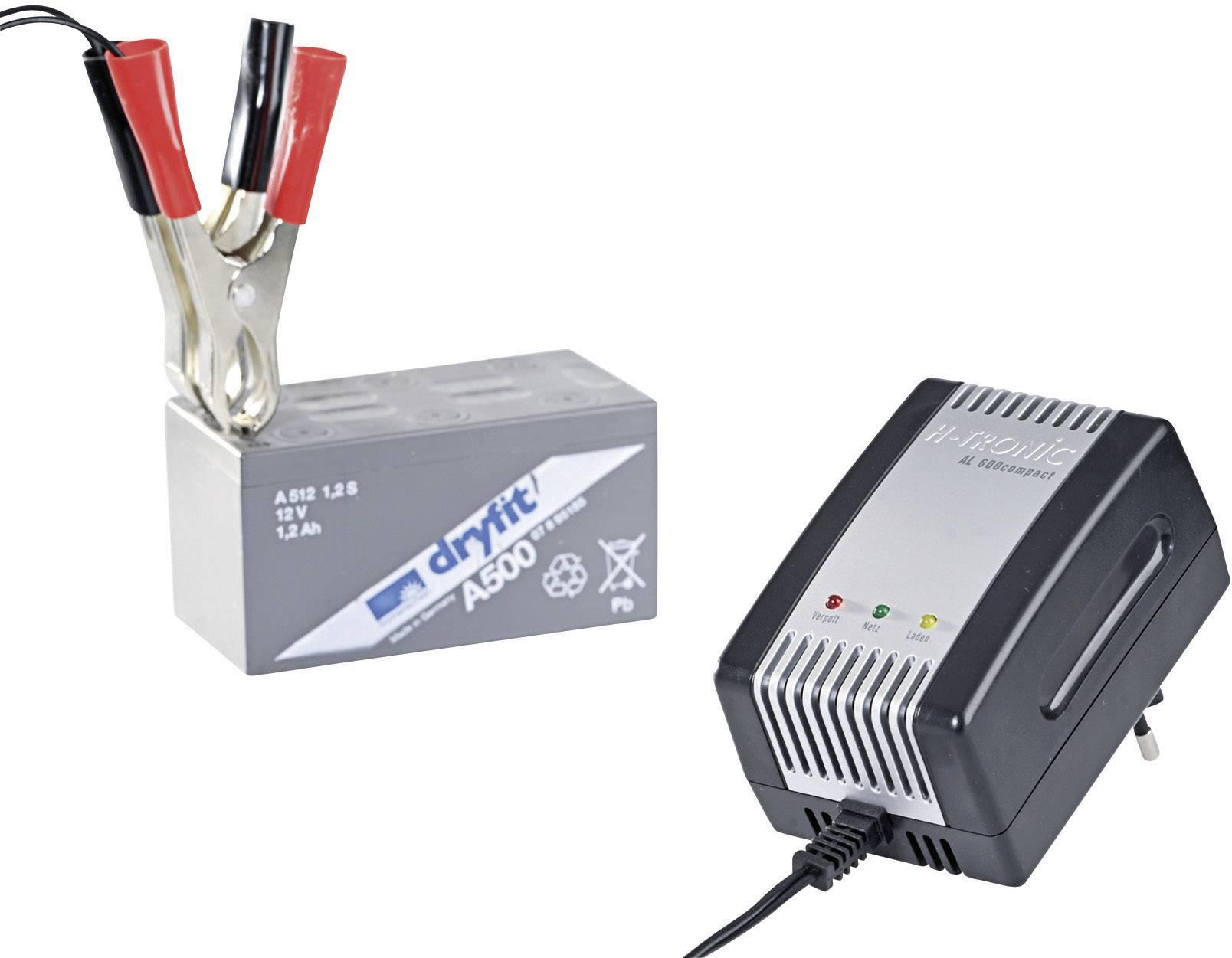 Nabíječka olověných akumulátorů H-Tronic AL 800, 2/6/12 V, 0,8 A