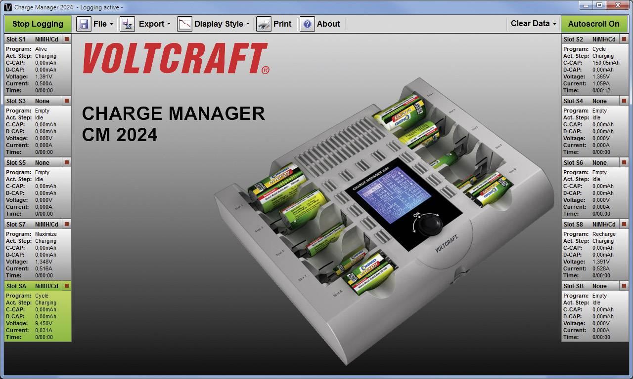 Nabíječka Voltcraft Charge Manager 2024