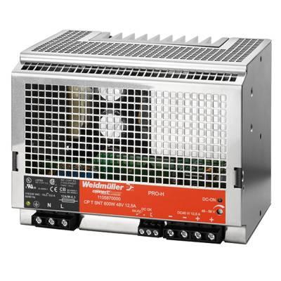 Síťový zdroj na DIN lištu Weidmüller CP T SNT 600W 48V 12,5A, 1 x, 48 V/DC, 12.5 A, 600 W