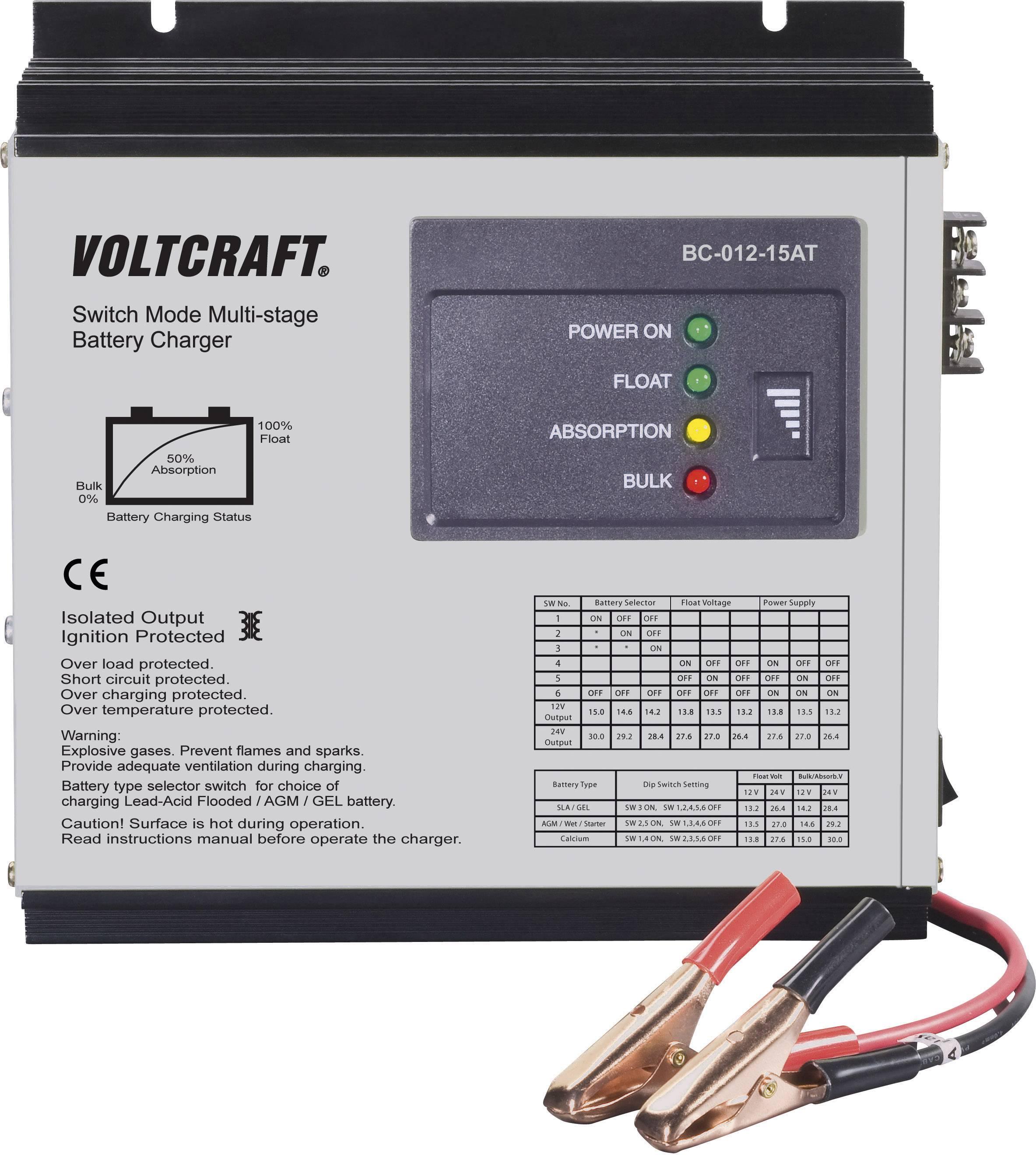 Nabíjačka olovených akumulátorov VOLTCRAFT BC-012-15AT 201540