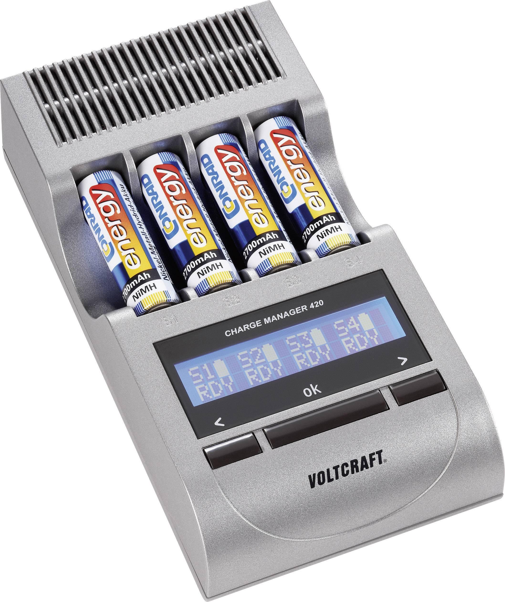 Nabíjačka na okrúhle akumulátory VOLTCRAFT CM 420, 202420, micro (AAA), mignon (AA)