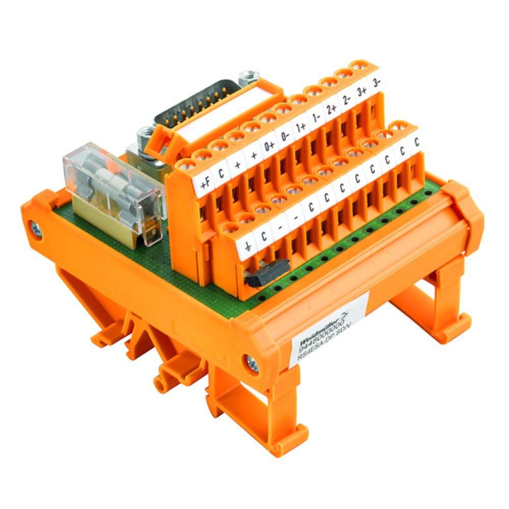 Předávací prvek 1 ks Weidmüller RS 4AIO DP SD S 50, 25 V/DC, V/AC (max)