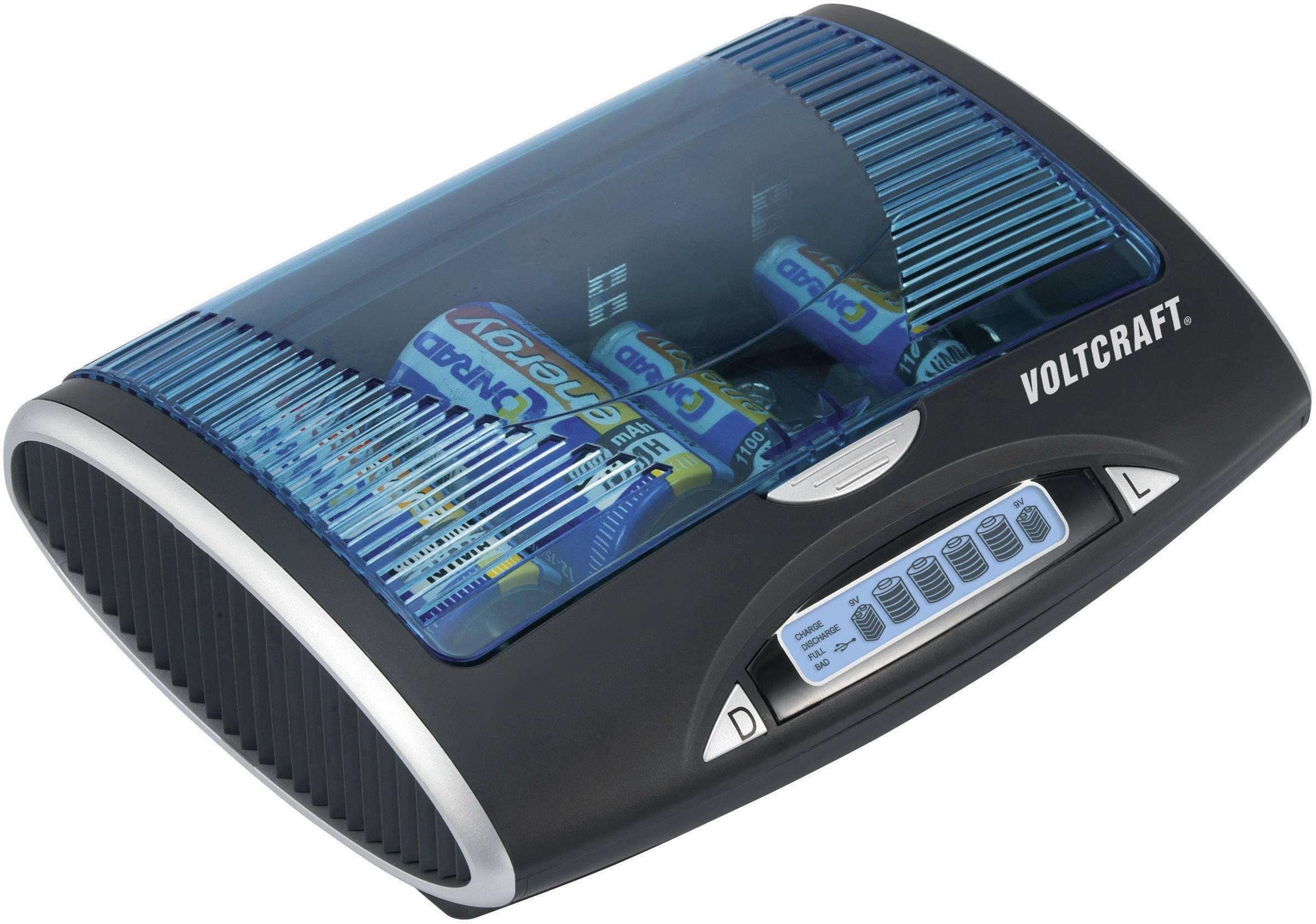 Univerzální nabíječka Voltcraft P-600 LCD, s USB