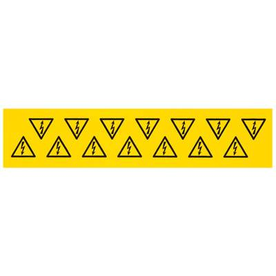 Device markers, Label, 100 x 100 mm, Acrylic-coated fibre webbing, Colour: Yellow 1700550001 Weidmüller 10 ks