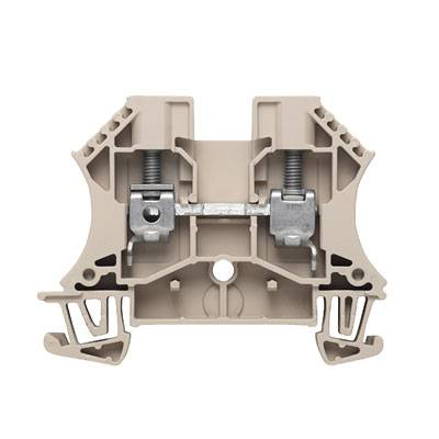 W-Series, Feed-through terminal, Rated cross-section: 6 mm², Screw connection, Direct mounting WDU 6 GN Weidmüller Množství: 100 ks