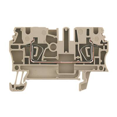 Z-series, Feed-through terminal, Rated cross-section: 2,5 mm², Tension clamp connection, Wemid, Brown, ZDU 2.5 BR Weidmüller Množství: 100 ks