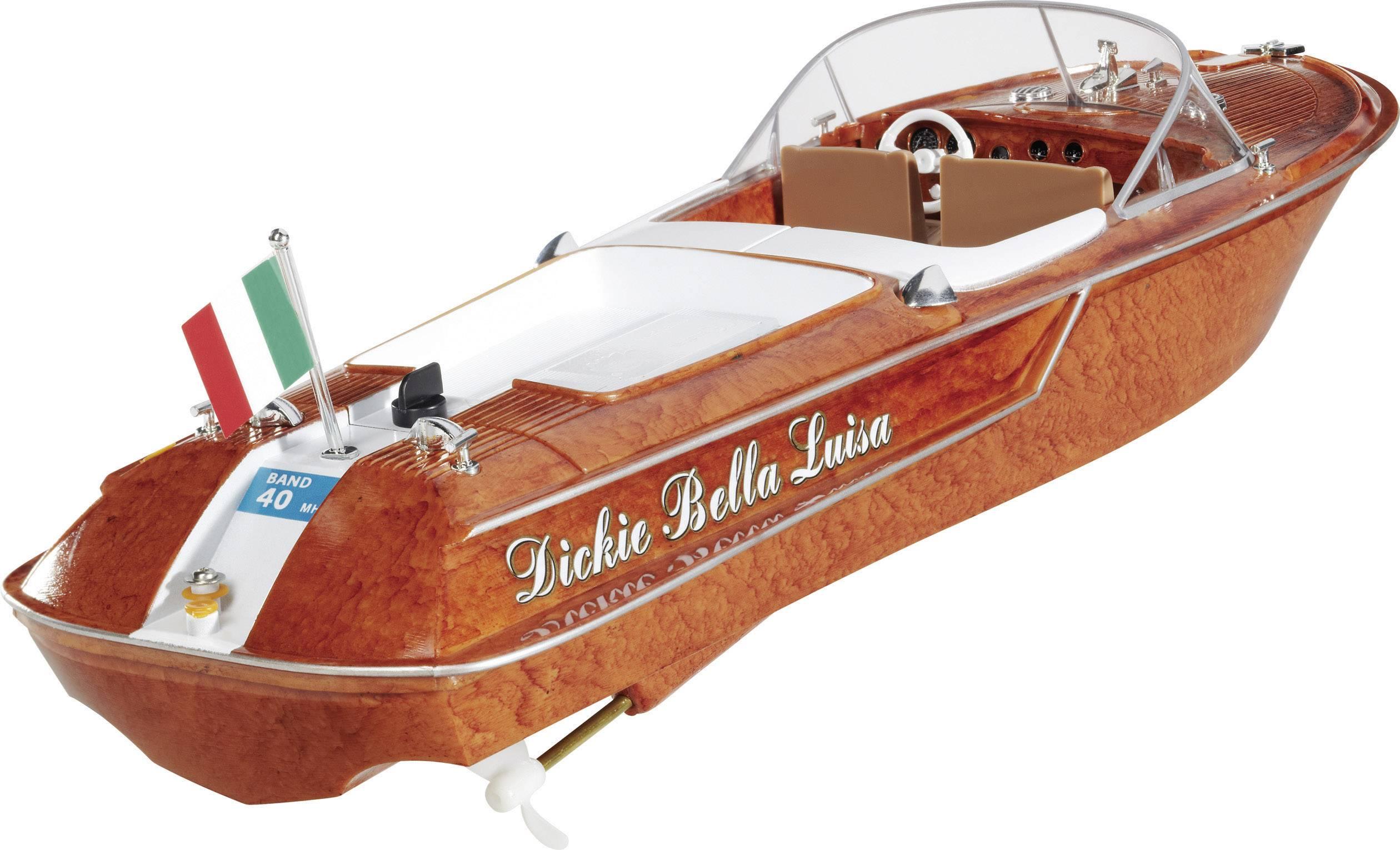 RC model lodi Dickie Toys Bella Luisa, vč. RC soupravy, 27 MHz, RtR