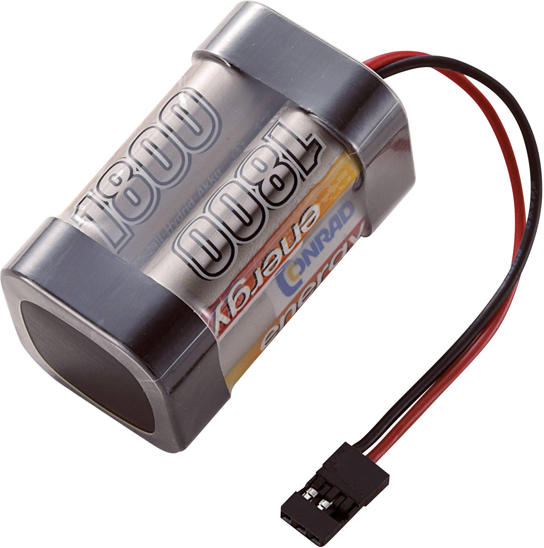 Akupack přijímače NiMH Conrad Energy AA, 4,8 V, 1800 mAh, Block, JR