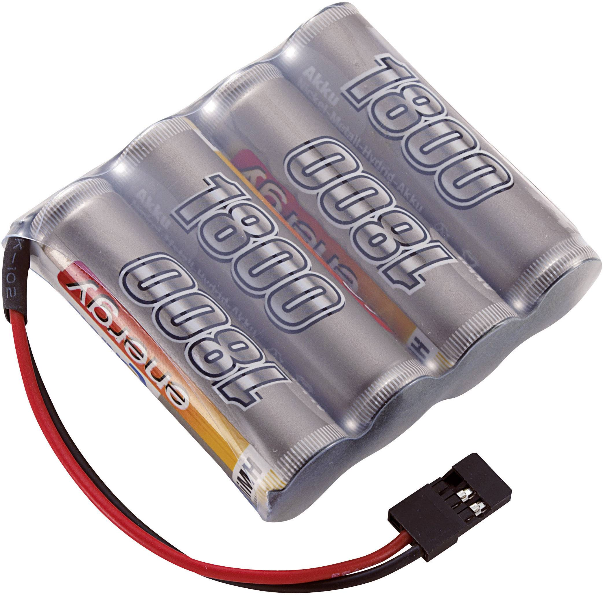 Akupack přijímače NiMH Conrad Energy AA, 4,8 V, 1800 mAh, Side by Side, JR