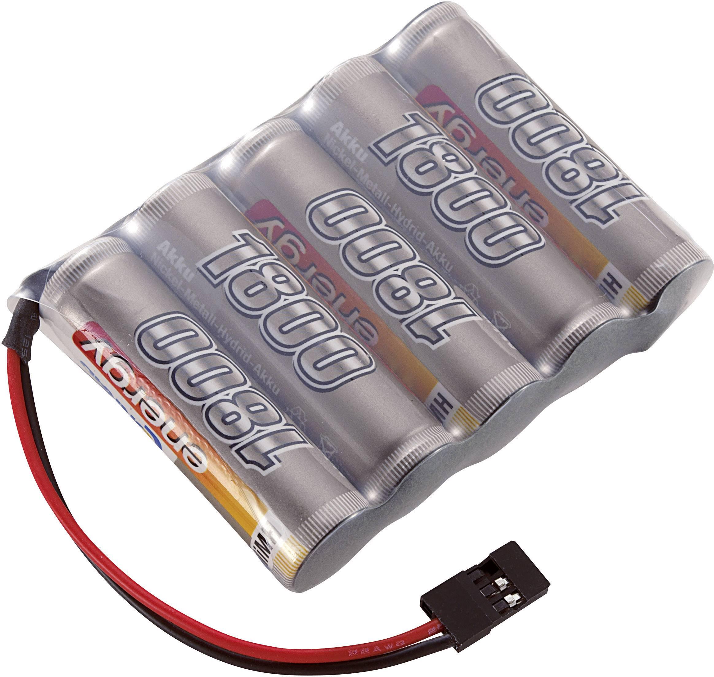 Akupack přijímače NiMH Conrad Energy AA, 6 V, 1800 mAh, Side by Side, JR