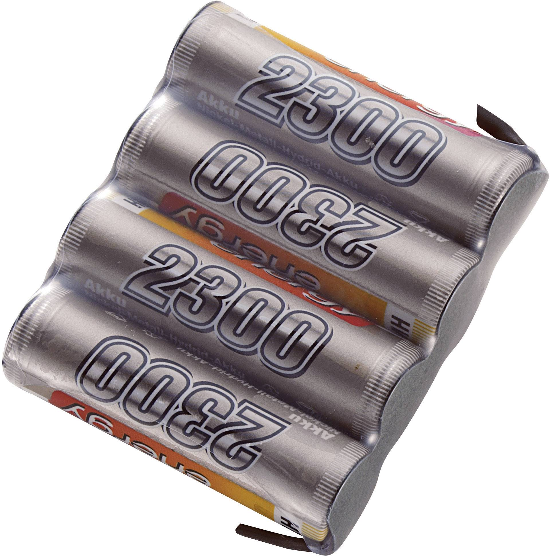 Akupack přijímače NiMH Conrad Energy AA, 4,8 V, 2300 mAh, Side by Side, s páj. hroty