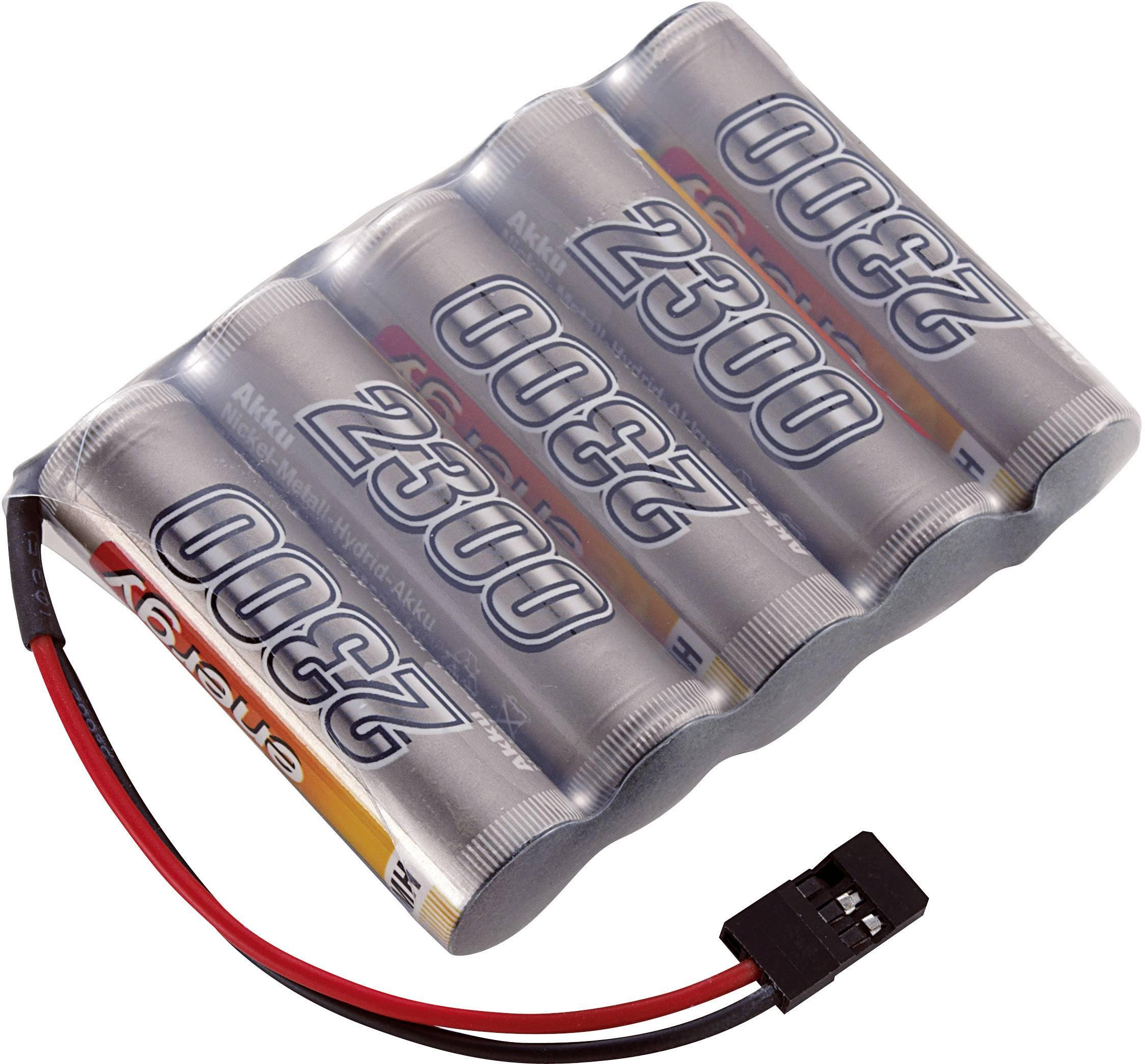 Akupack přijímače NiMH Conrad Energy AA, 6 V, 2300 mAh, Side by Side, JR