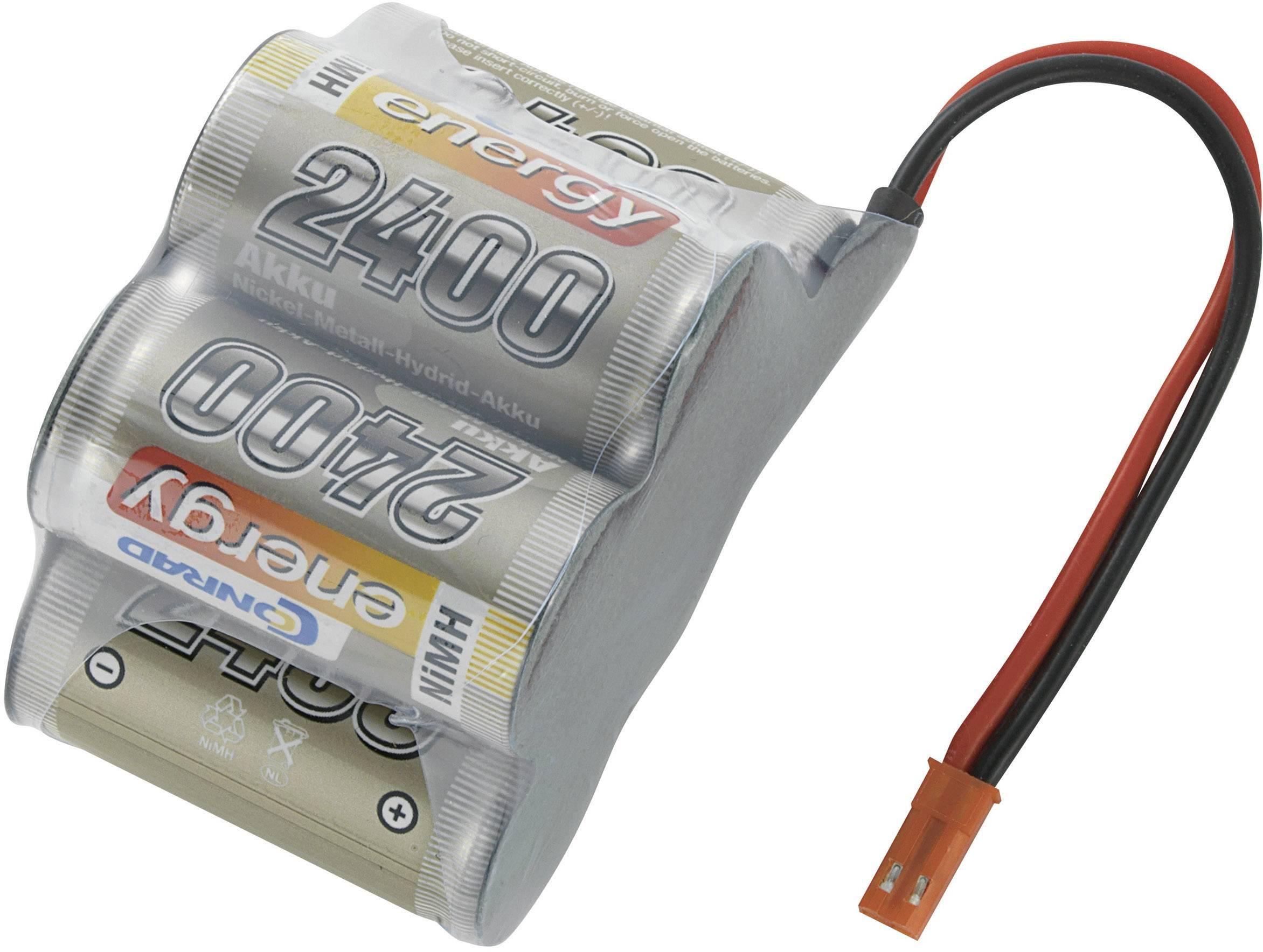Akupack přijímače NiMH Conrad Energy Sub-C, 6 V, 2400 mAh, Hump, BEC