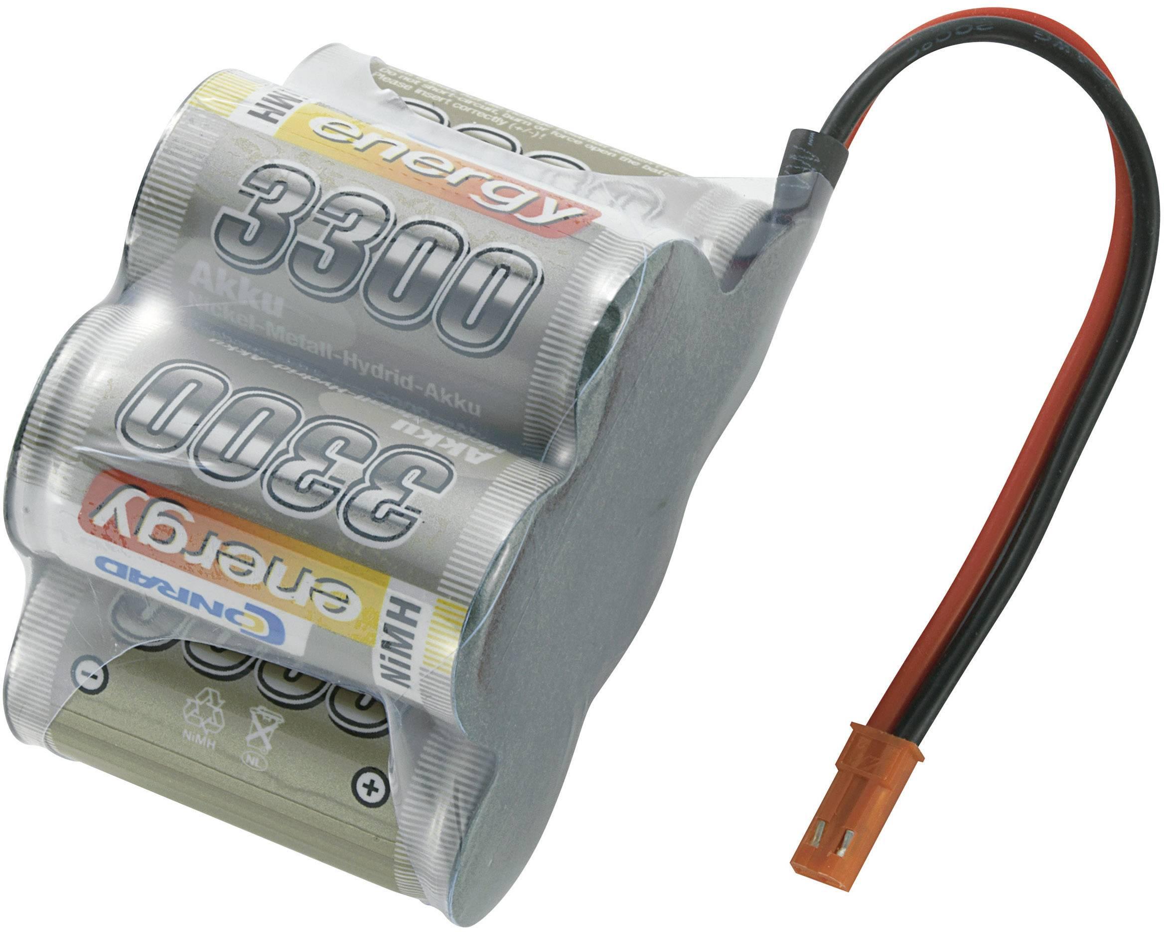 Akupack přijímače NiMH Conrad Energy Sub-C, 6 V, 3300 mAh, Hump, BEC