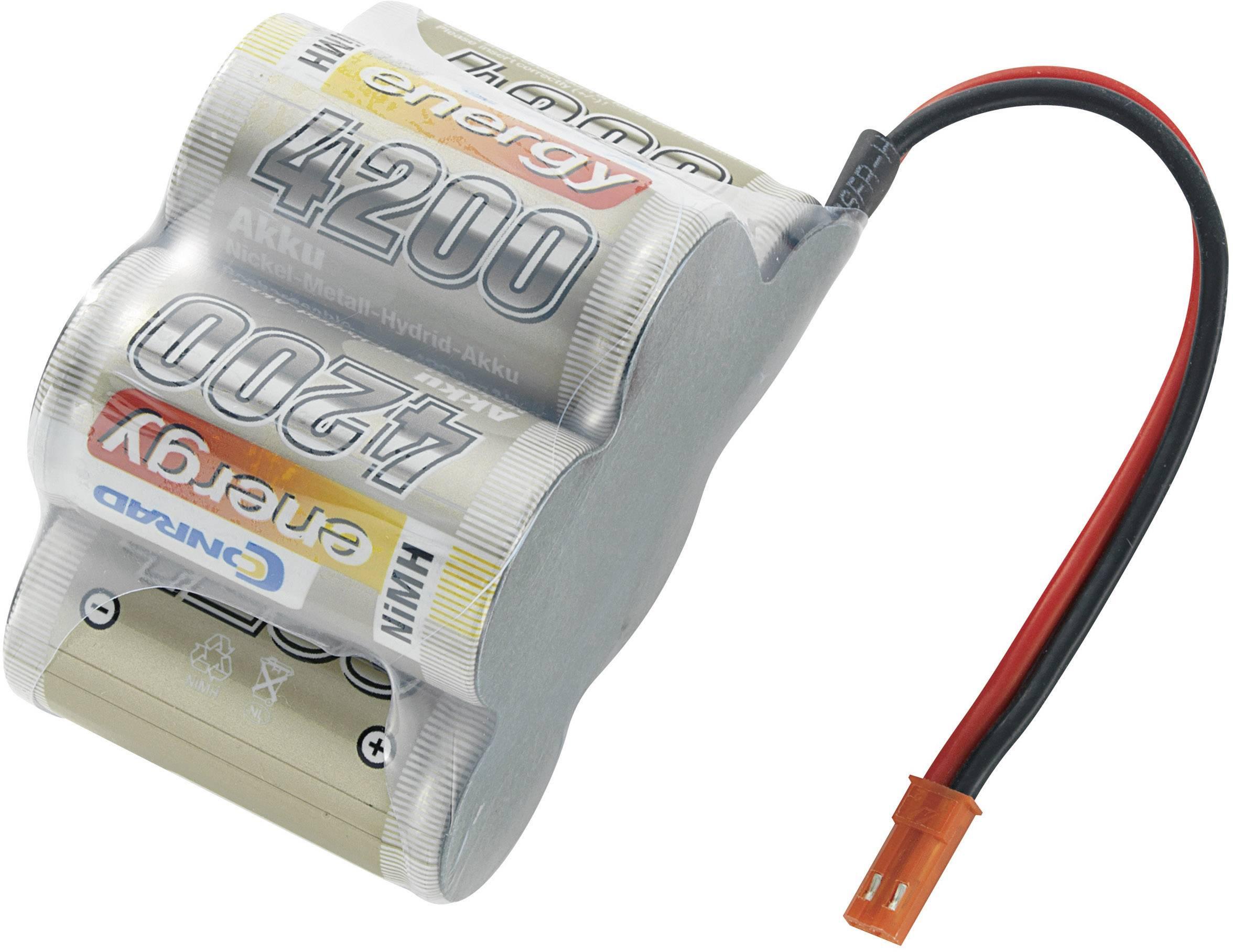 Akupack přijímače NiMH Conrad Energy Sub-C, 6 V, 4200 mAh, Hump, BEC