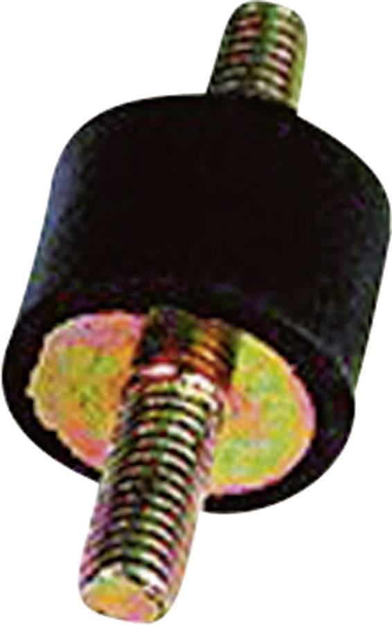 Gumový tlumič vibrací Kavan, typ A, 15 x 15 mm, 4 ks