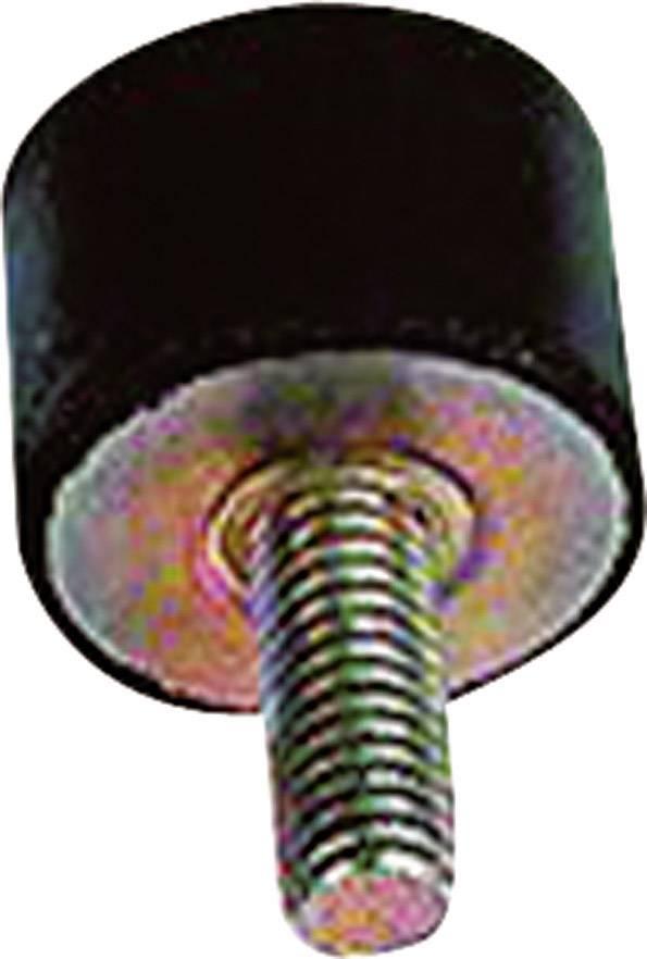 Gumový tlumič vibrací Kavan, typ B, 15 x 15 mm, 4 ks