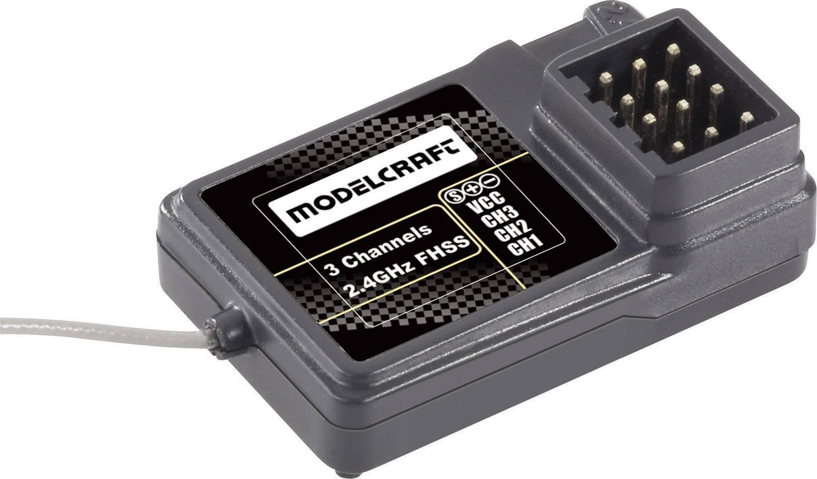 Přijímač Modelcraft FS-GR3C, 2,4 GHz, 3 kanály, JR/Futaba