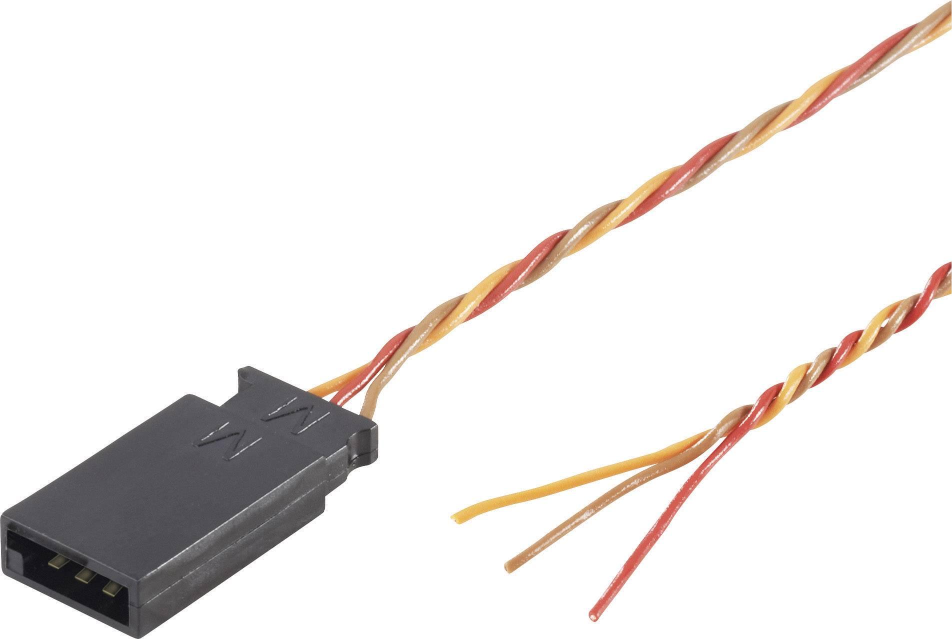 Kabel se zdířkou Futaba, Modelcraft, 0,08 mm², 300 mm