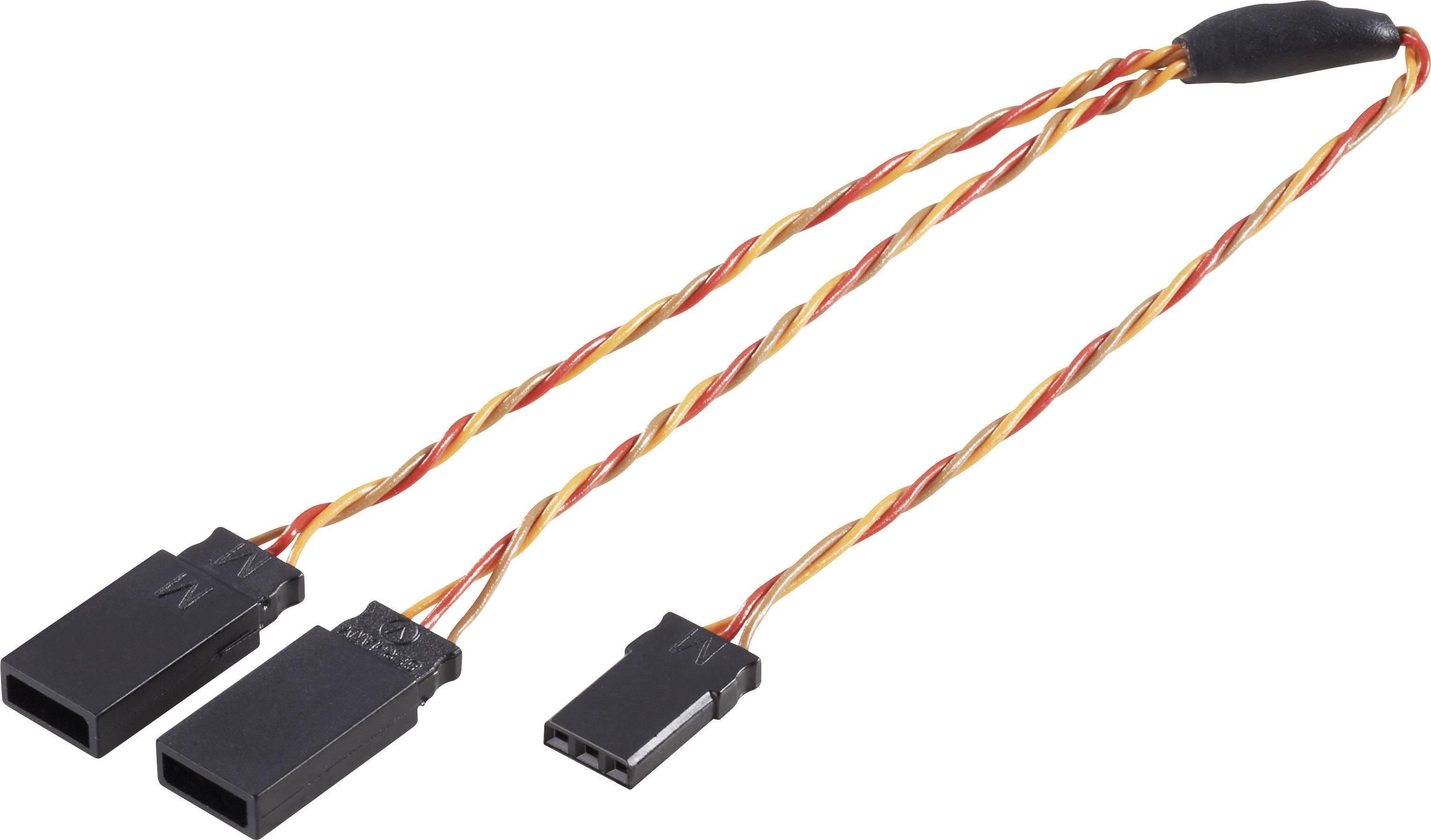 Y kabel Modelcraft, konektor JR, 30 cm, 0,50 mm²