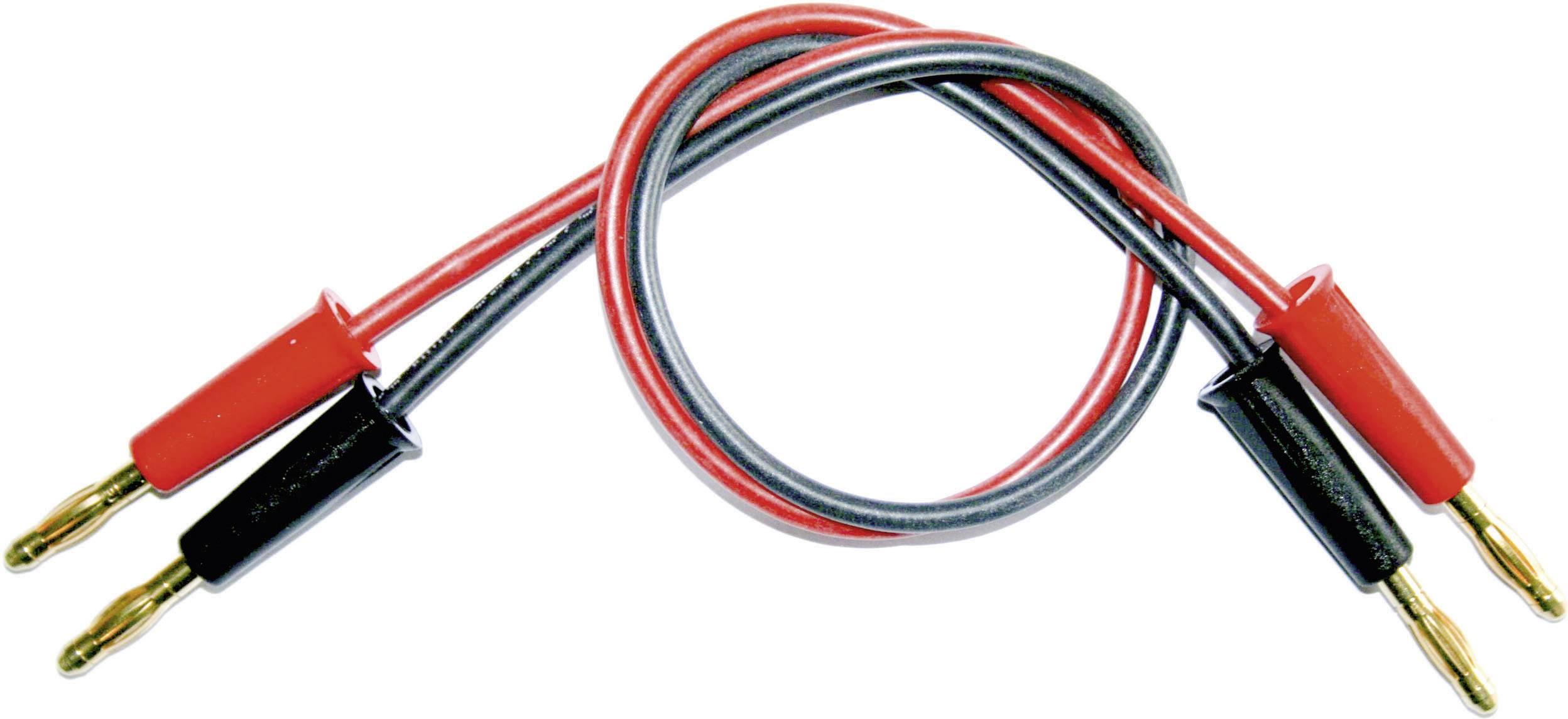Nabíjací kábel Modelcraft 208375, [2x banánková zástrčka - 2x banánková zástrčka], 250 mm, 2.5 mm²