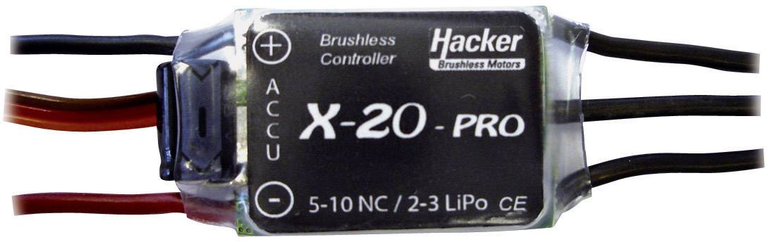 Brushless letový regulátor pre model lietadla Hacker X-20-Pro BEC