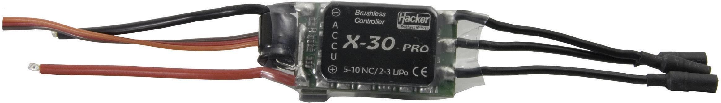 Brushless letový regulátor pre model lietadla Hacker X-30-Pro BEC