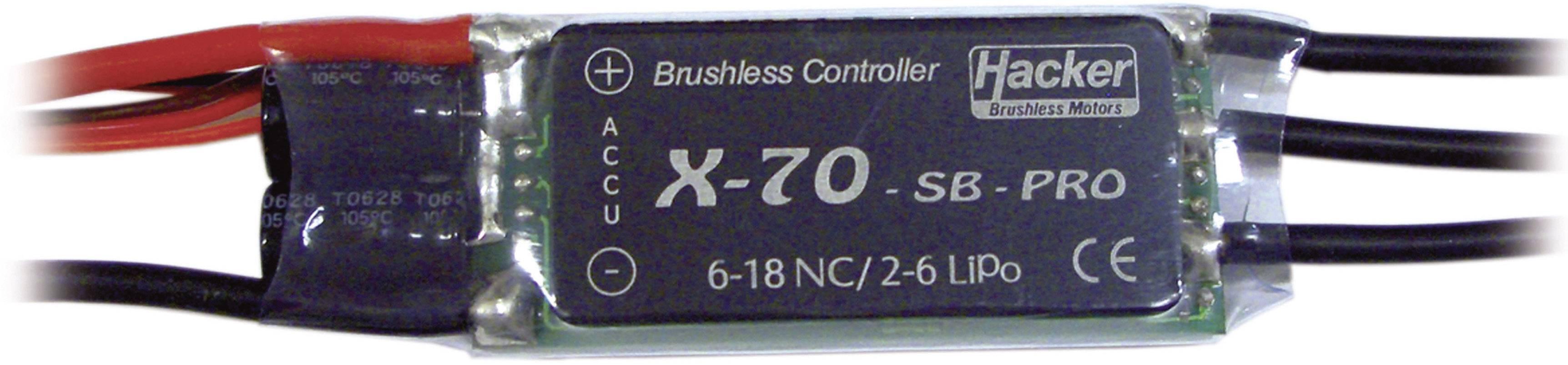 Brushless letový regulátor pre model lietadla Hacker X-70-SB-Pro BEC
