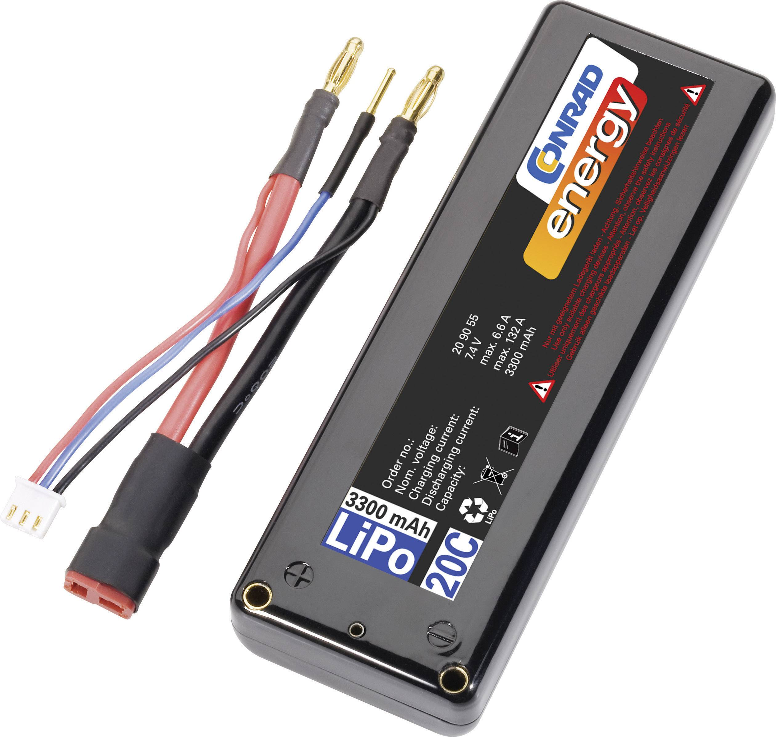 Akupack Li-Pol Conrad energy 209055, 7.4 V, 3300 mAh