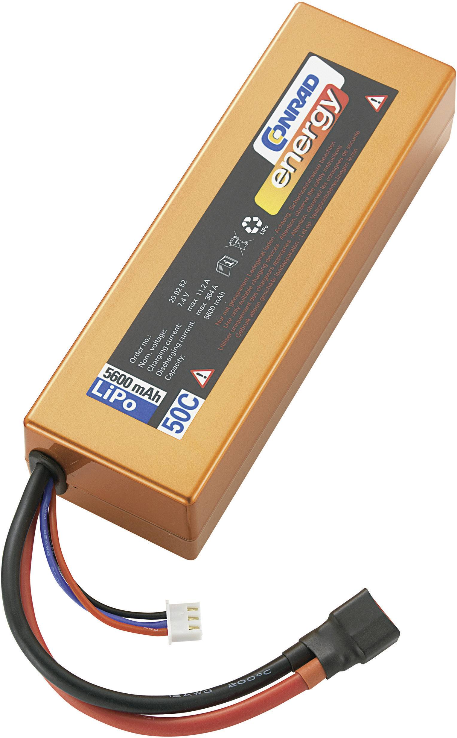 Akupack Li-Pol Conrad energy 209252, 7.4 V, 5600 mAh